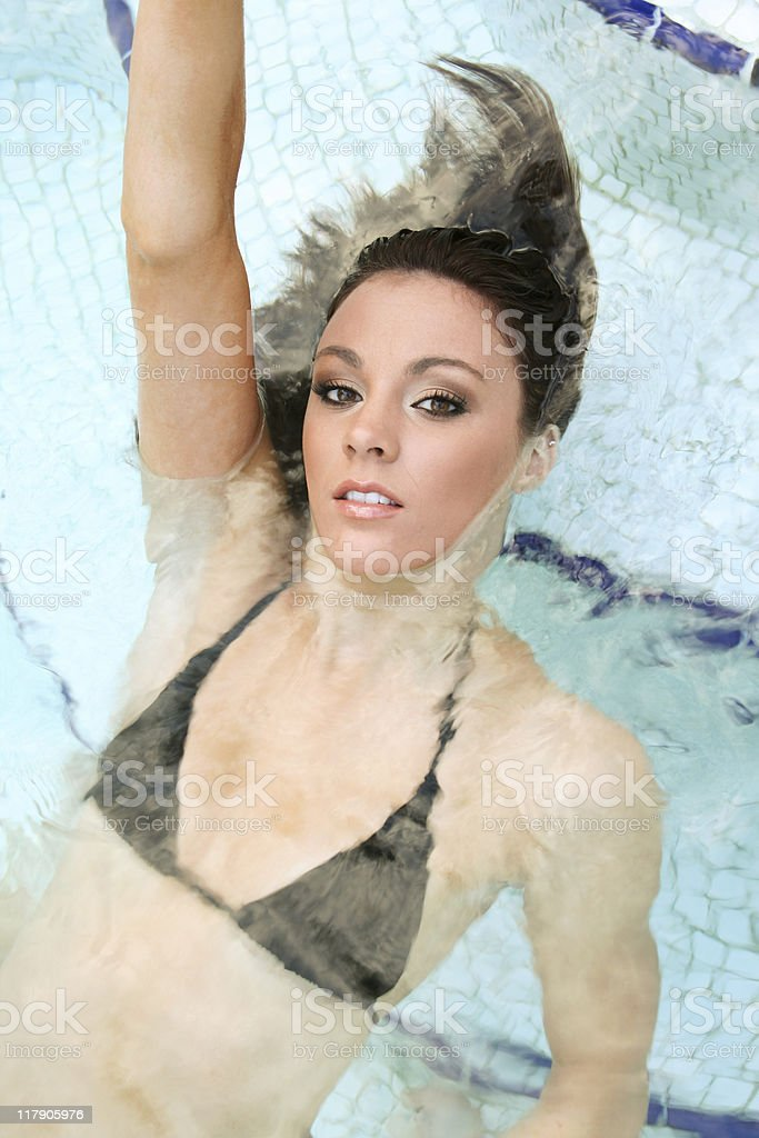 Girl in Water royalty-free stock photo