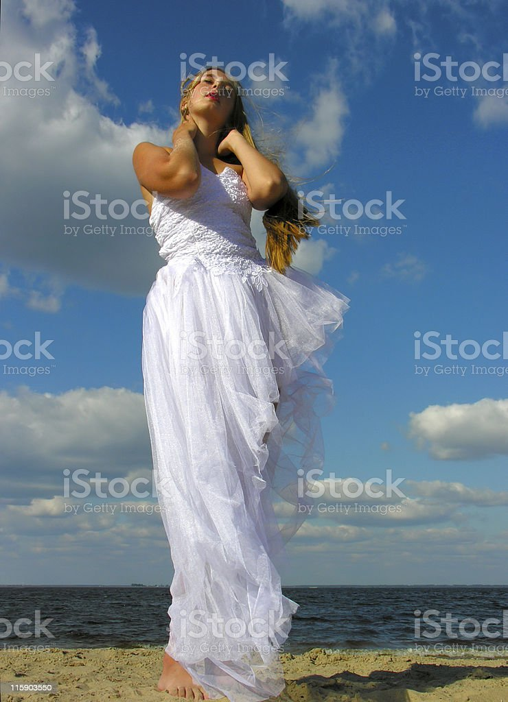 girl in white dress 03 royalty-free stock photo