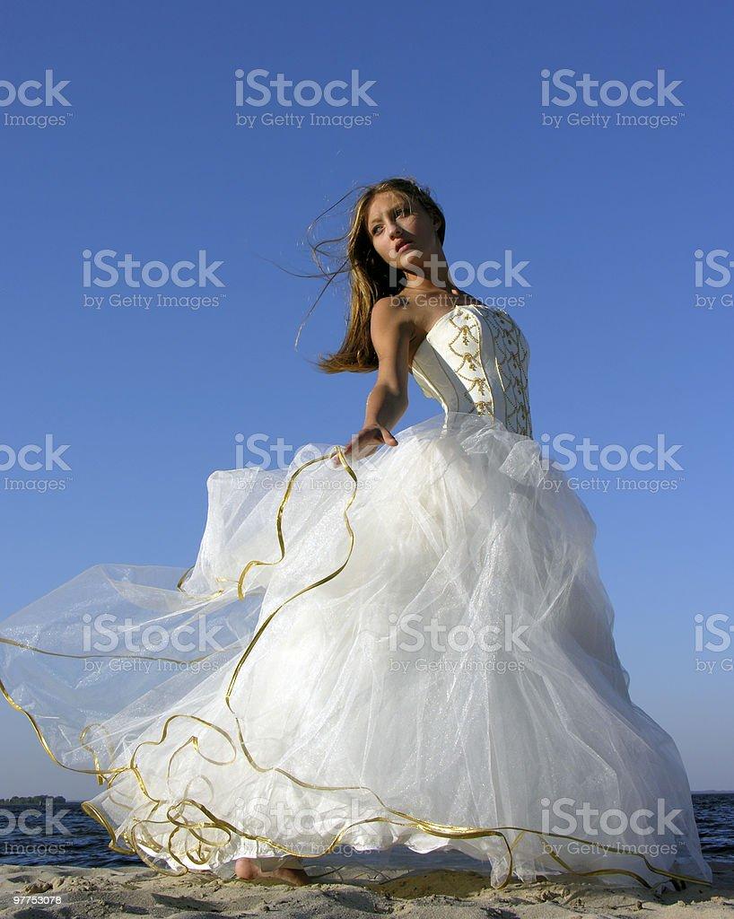 girl in white dress 04 royalty-free stock photo