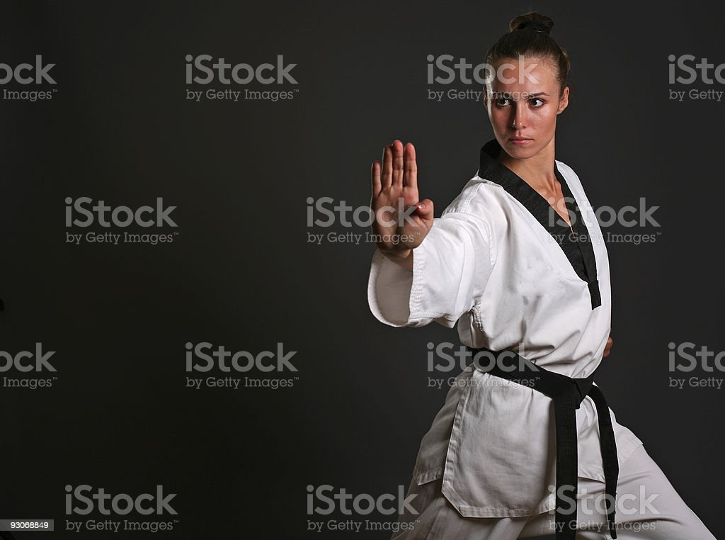 girl in white kimono stock photo