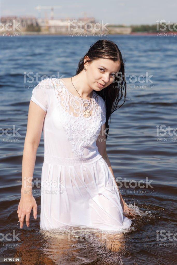 In wet dress girl Wetlook Articles