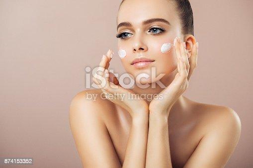 istock Girl inflicting cream 874153352