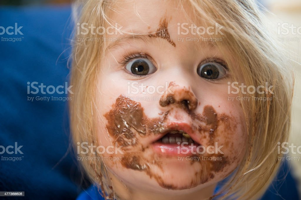 Girl is eating stock photo