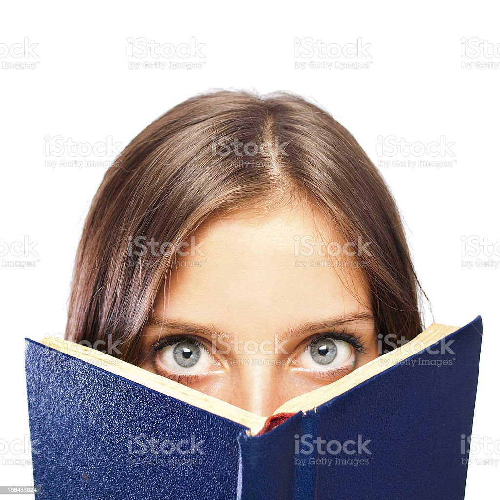 Girl is holding a book foto