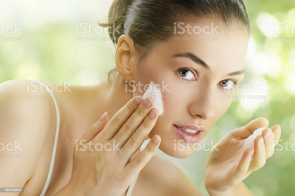 girl is washing stock photo