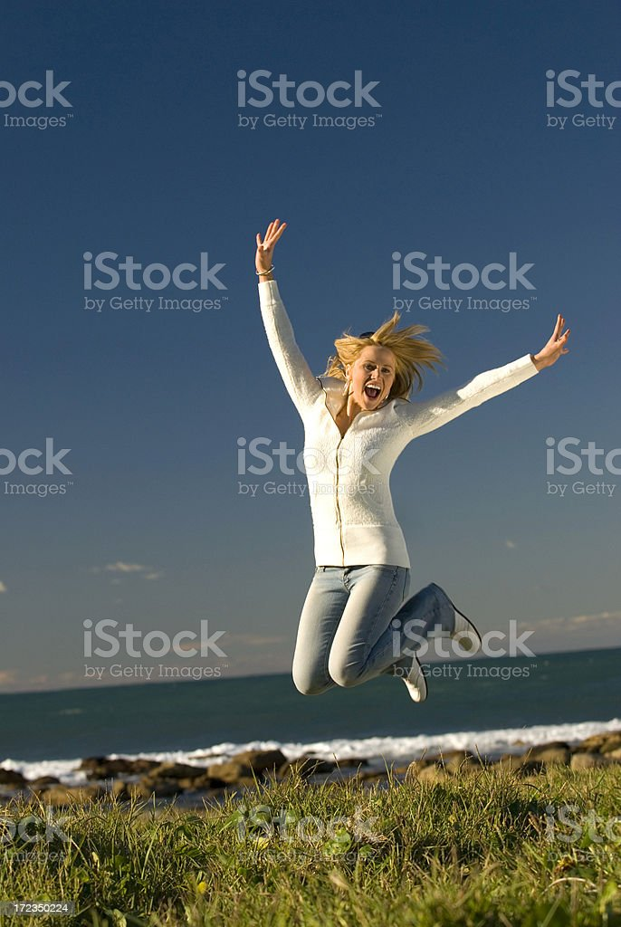 girl jumping for joy stock photo amp more pictures of