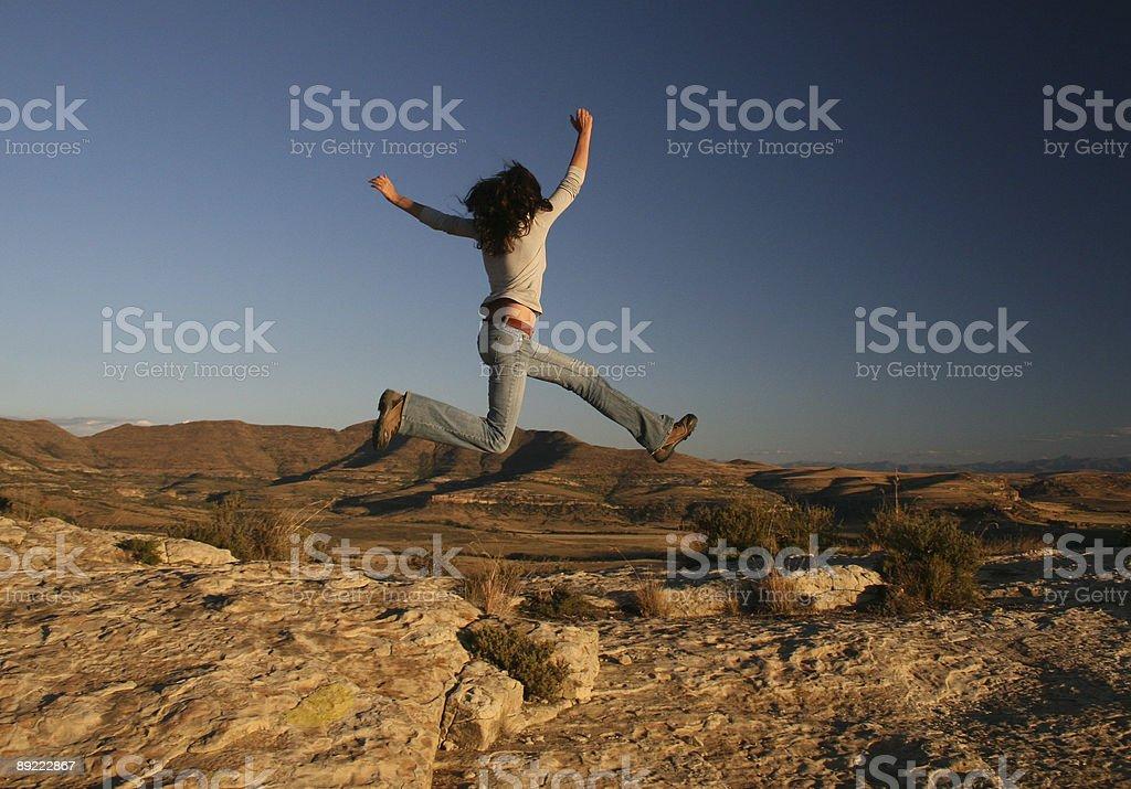 Girl Jumping royalty-free stock photo
