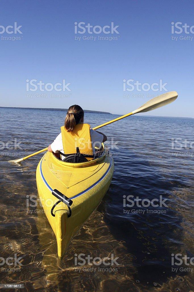 Girl Kayaking royalty-free stock photo