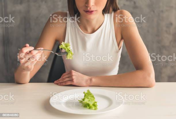 Girl Keeping Diet Stock Photo - Download Image Now