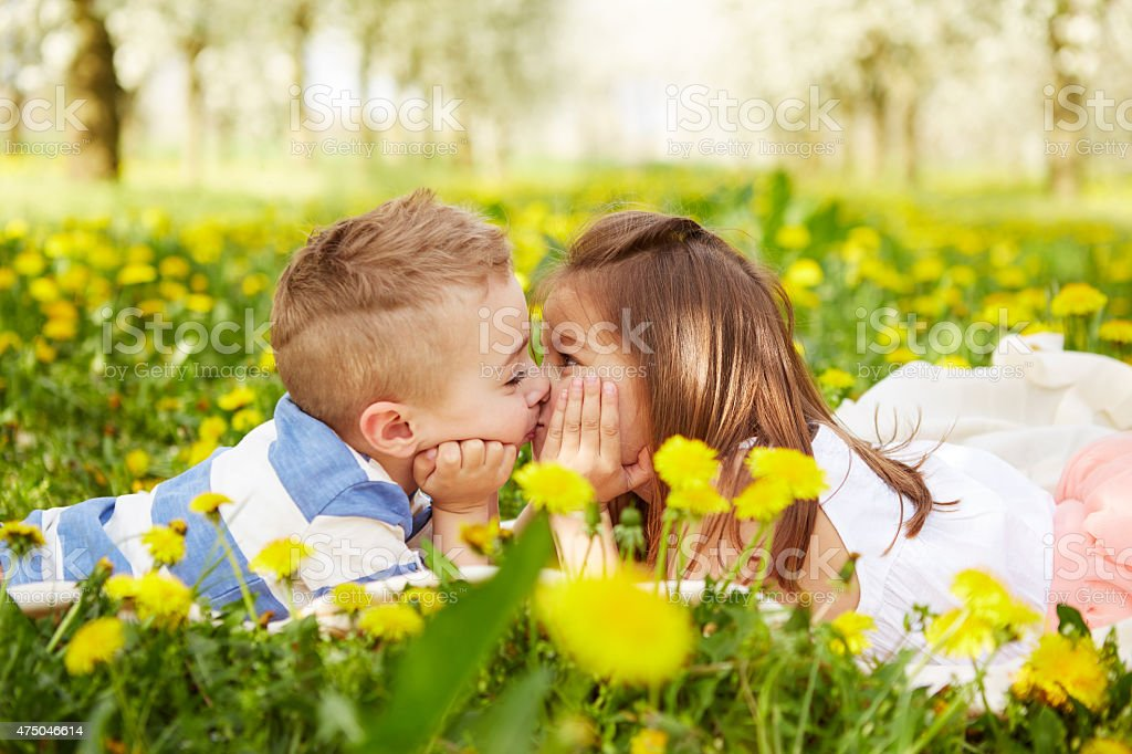 Girl Kissing A Boy Stock Photo  More Pictures Of 2015 -6964