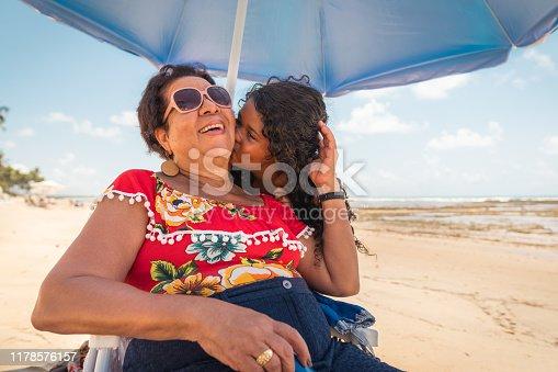 Two Generation Family, Family, Females, Beach, Holiday