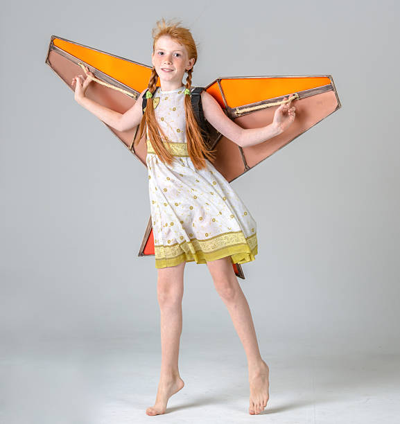 girl kite - tween models stock photos and pictures