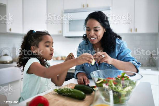 Girl learning to prepare meal from mother picture id1127294863?b=1&k=6&m=1127294863&s=612x612&h=exzodmdnnlsutcfj29kwbkzh7t9qbwsrwmtu rvsmzc=