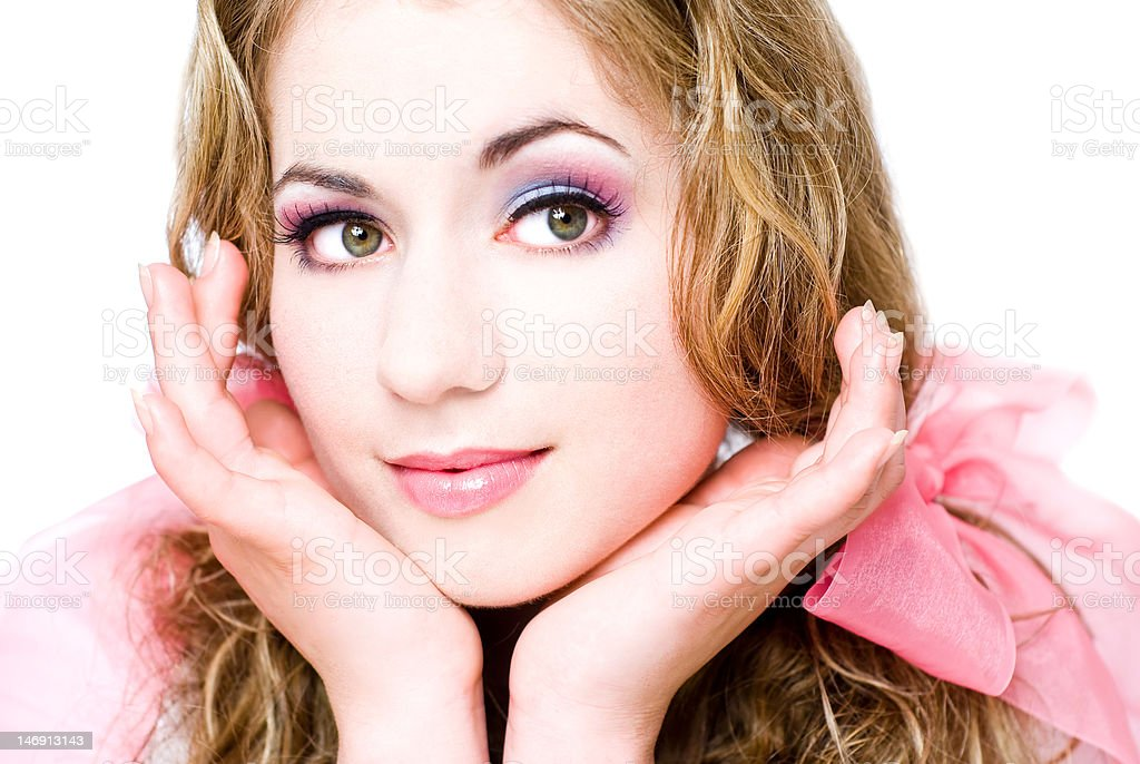 girl like a doll royalty-free stock photo