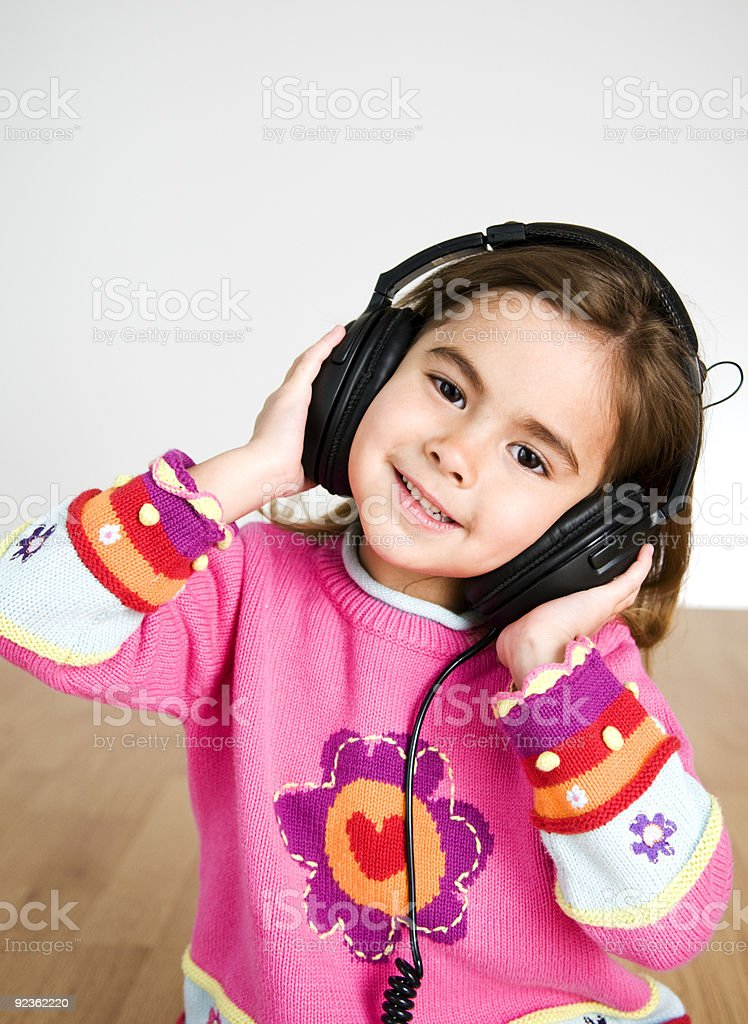 Mädchen Musik hören Lizenzfreies stock-foto