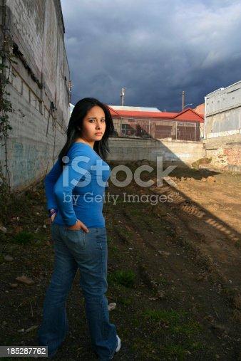 istock Girl Look Over Shoulder 185287762