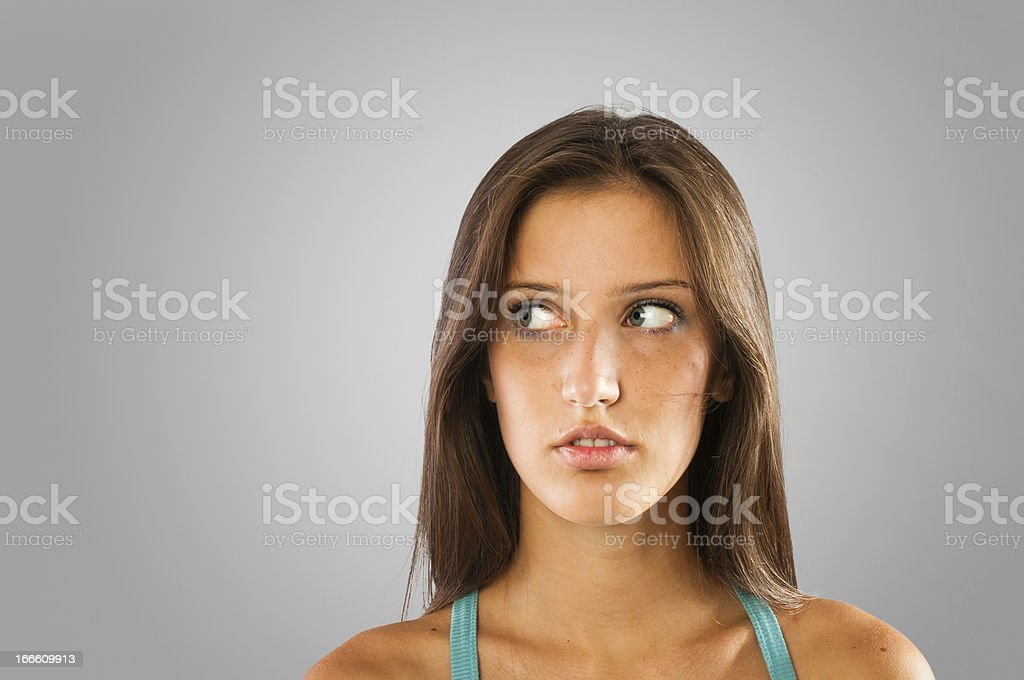 Girl looking aside royalty-free stock photo