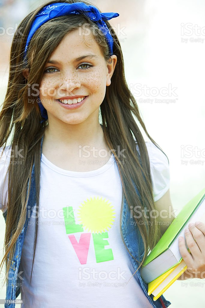 Girl Looking at Camera royalty-free stock photo