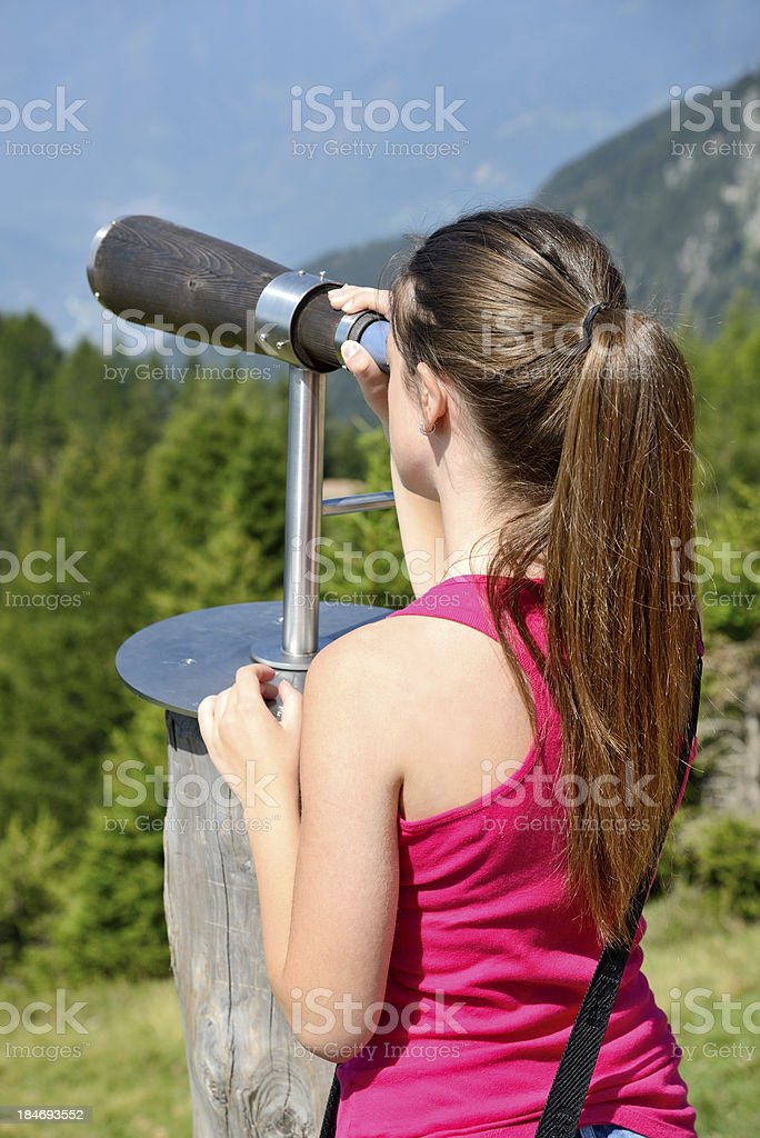 girl looking at landscape a royalty-free stock photo