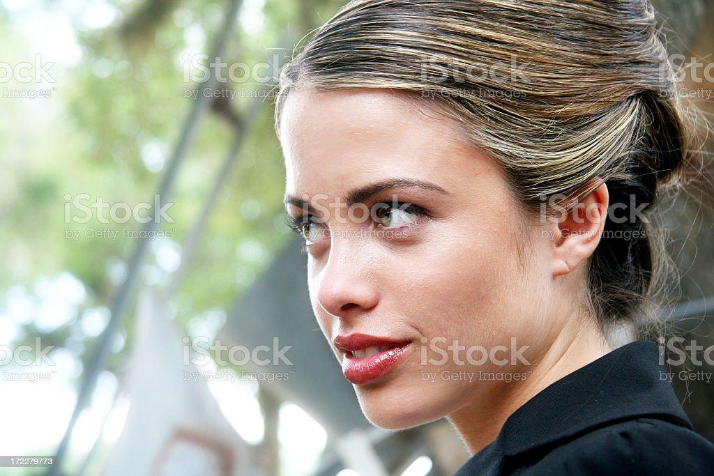Girl looking away stock photo