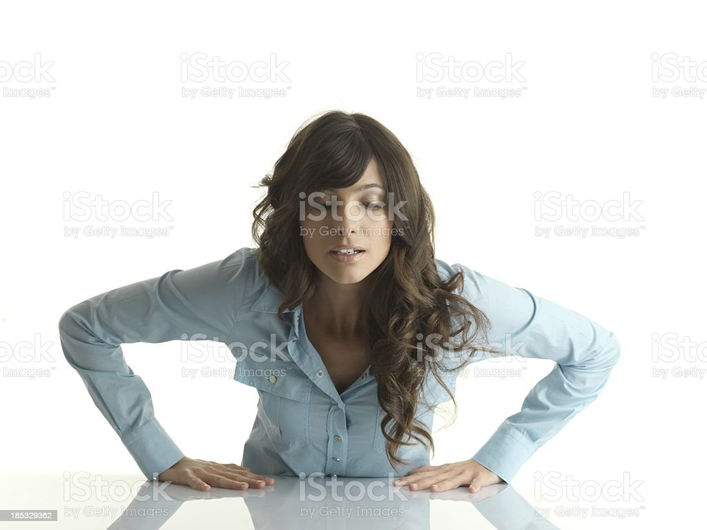 Girl looking stock photo