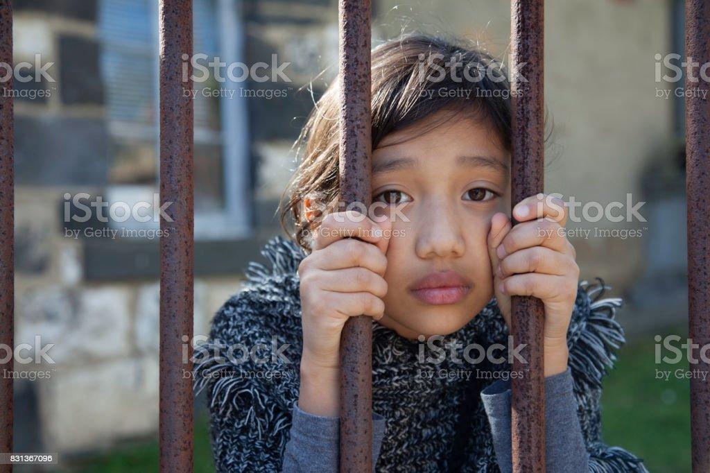 sad cambodian girl Stock Photo, Royalty Free Image
