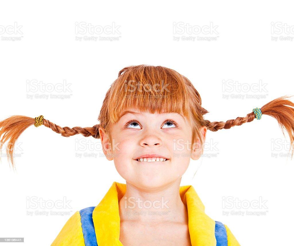 Mädchen nachschlagen Lizenzfreies stock-foto