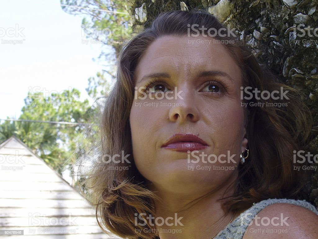 Girl Lost In Thought royalty-free stock photo