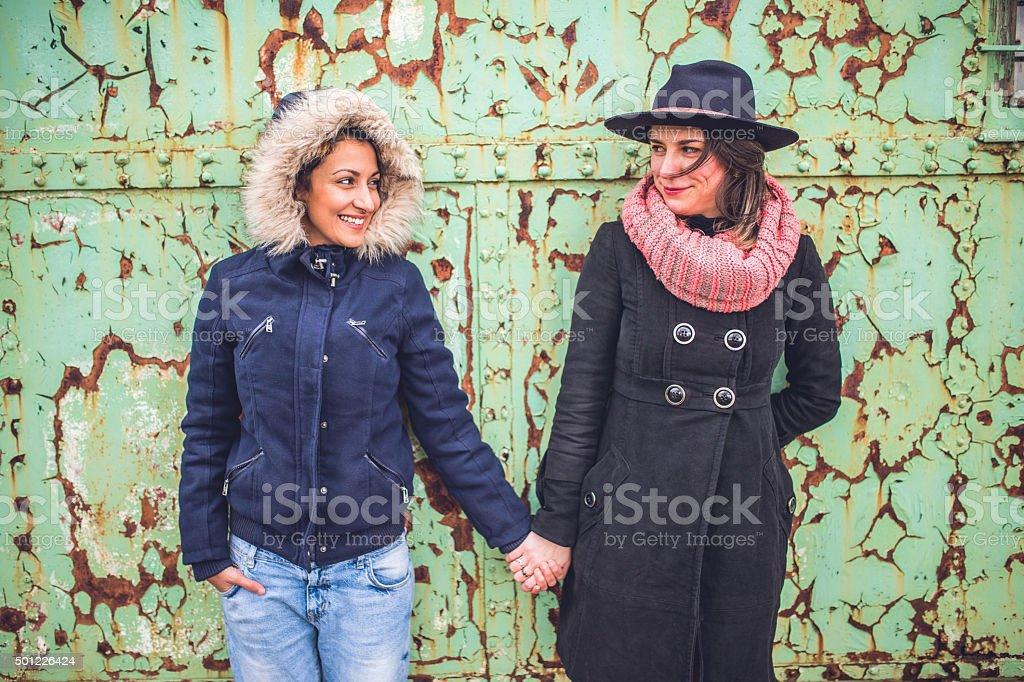 Girl love stock photo