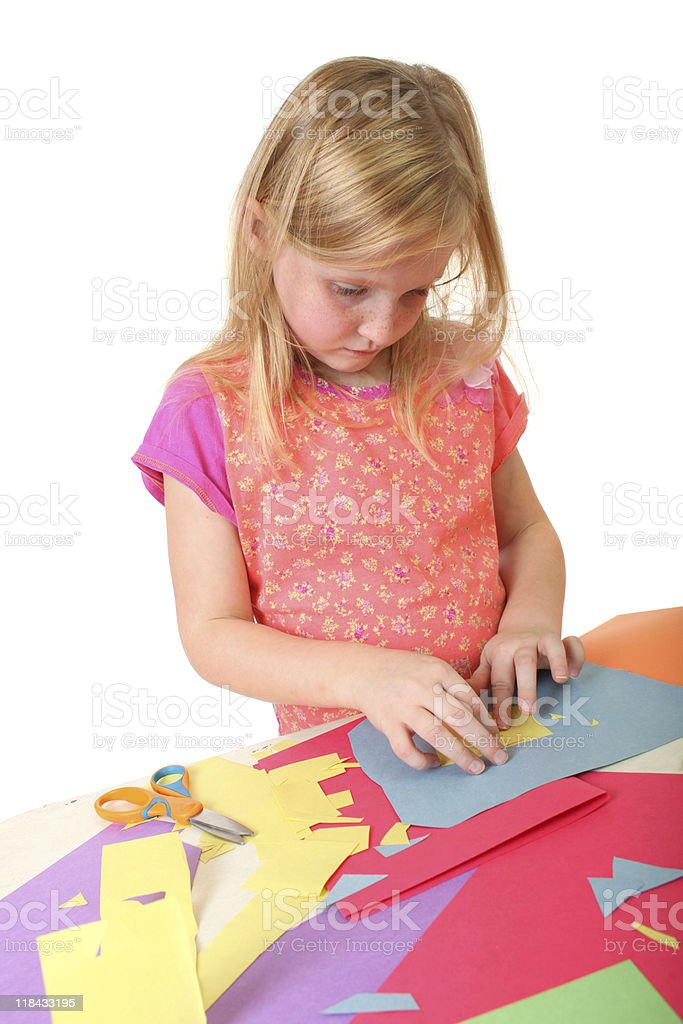 girl making artwork royalty-free stock photo