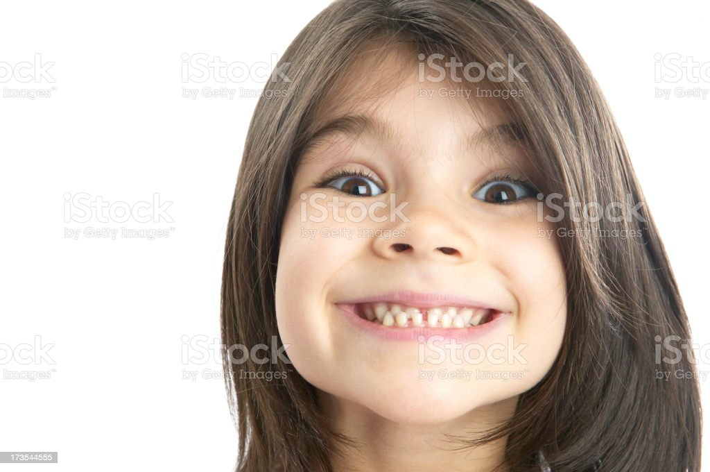 Girl making faces royalty-free stock photo