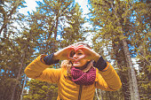 istock Girl making heart - shape symbol for love in the nature. 1050174882