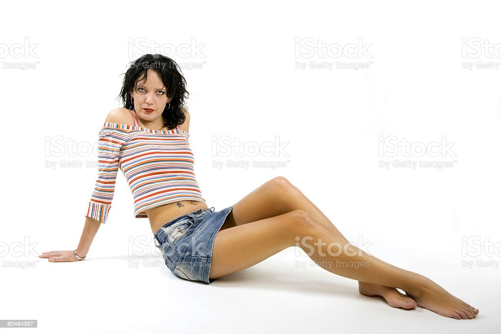 girl, miniskirt, legs royalty-free stock photo