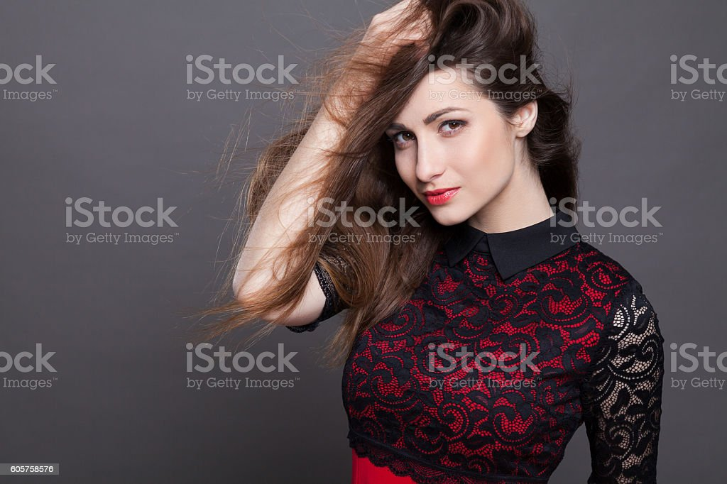 girl model posing in the Studio stock photo