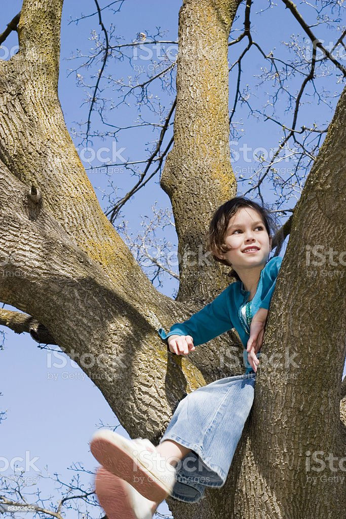 Girl Nature Tree royalty-free stock photo