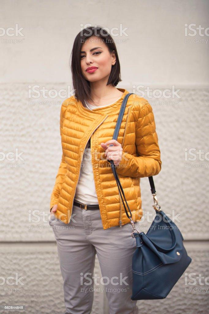 Girl Next Door stock photo