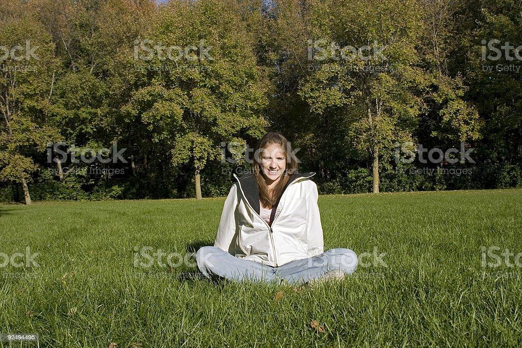 Girl of Nature Horizontal royalty-free stock photo