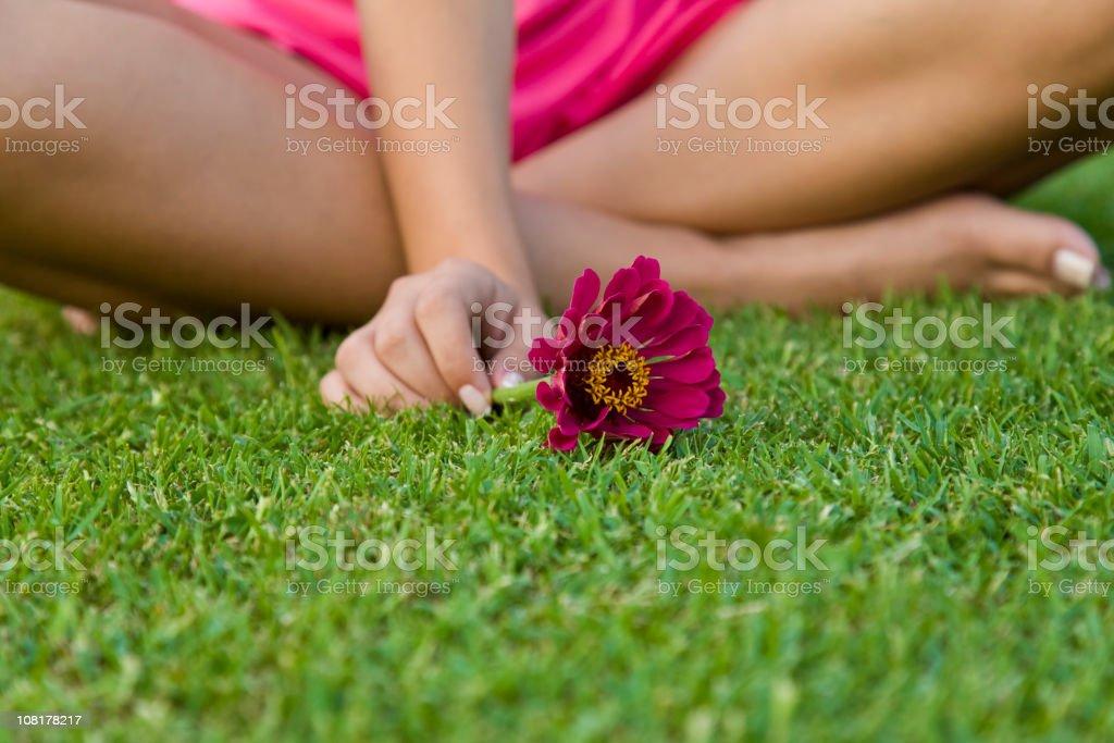 Girl of Nature stock photo