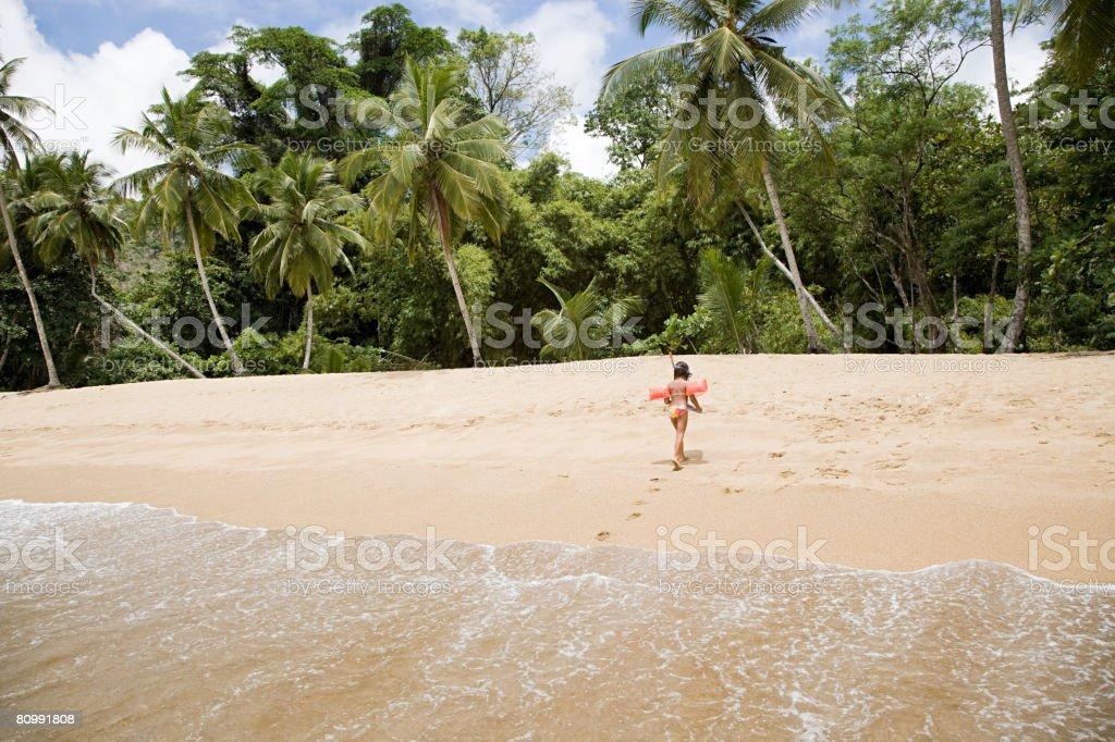 해변에서 여자 royalty-free 스톡 사진