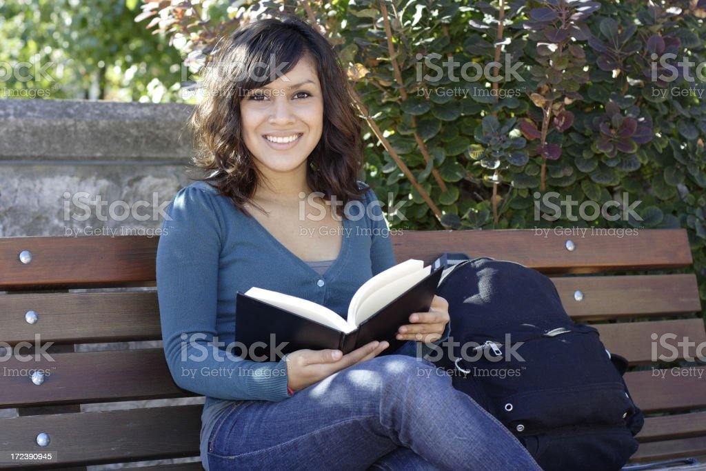 Girl On Campus Series royalty-free stock photo