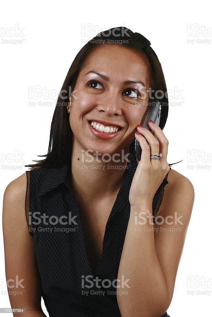 Girl on Cell Phone royalty-free stock photo