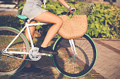 Girl on fixie