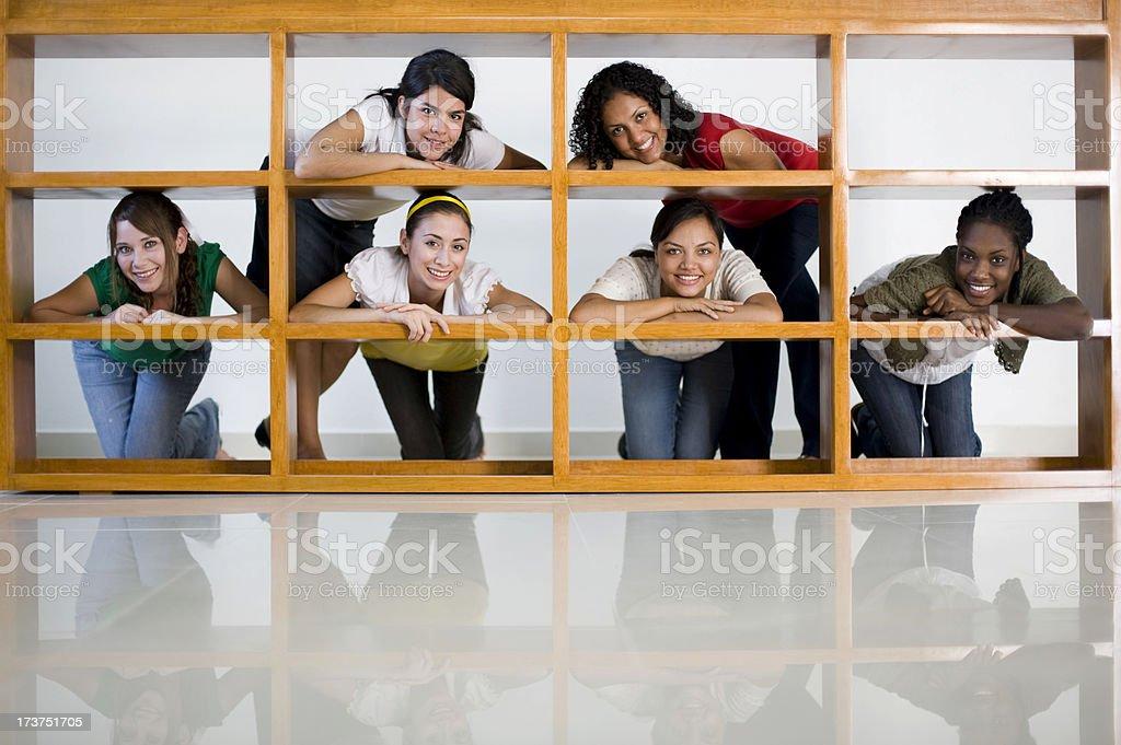 girl on frame stock photo