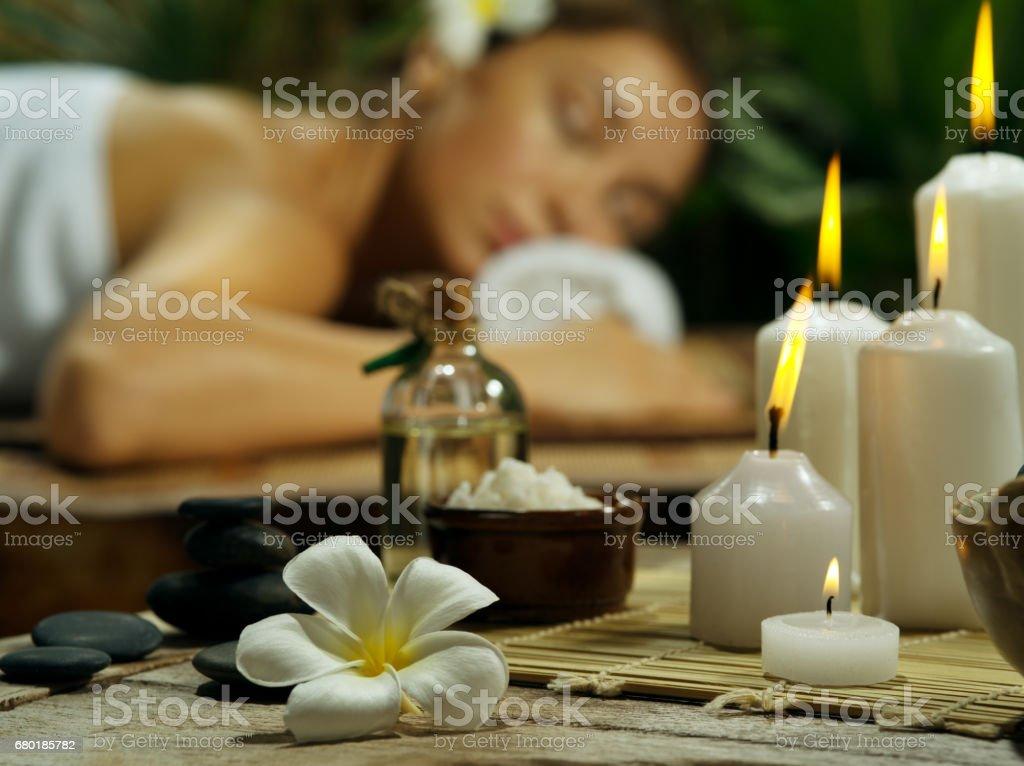 girl on massage stock photo