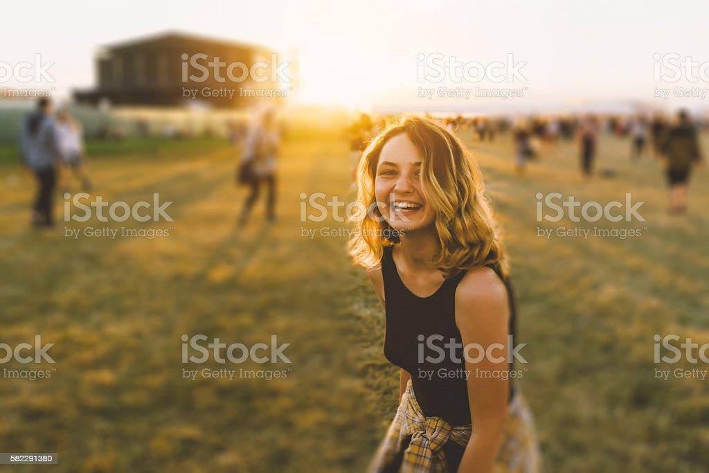 Girl on music festival – Foto