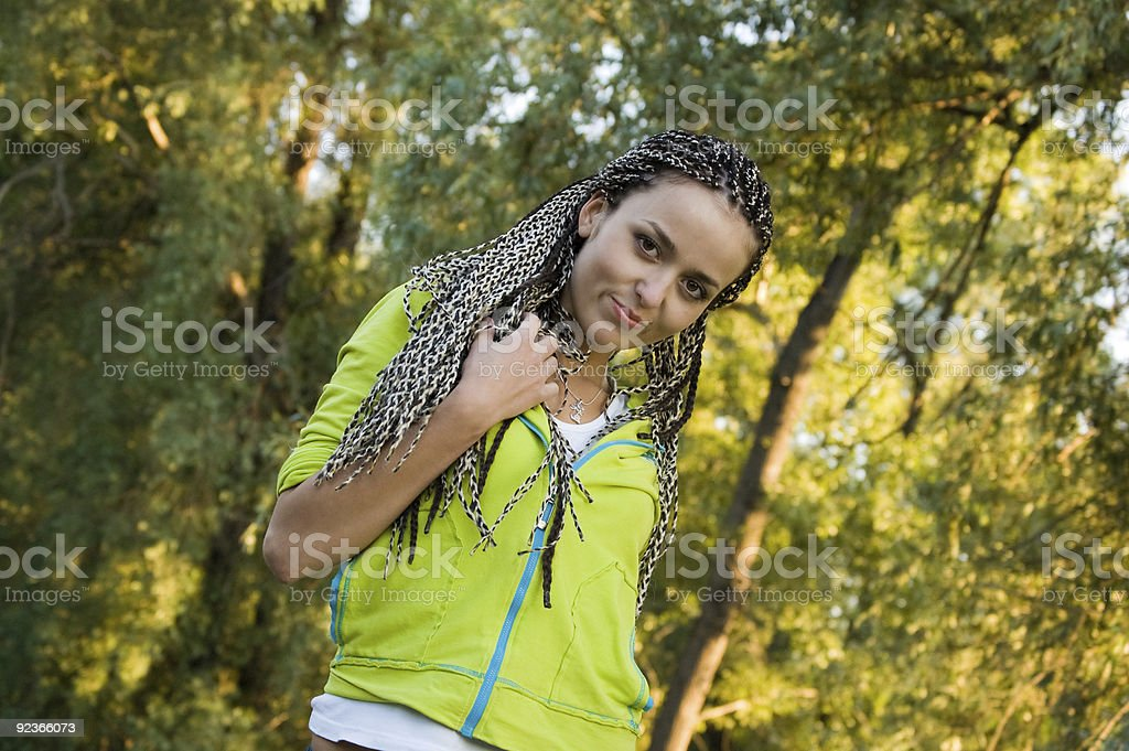 girl on nature royalty-free stock photo