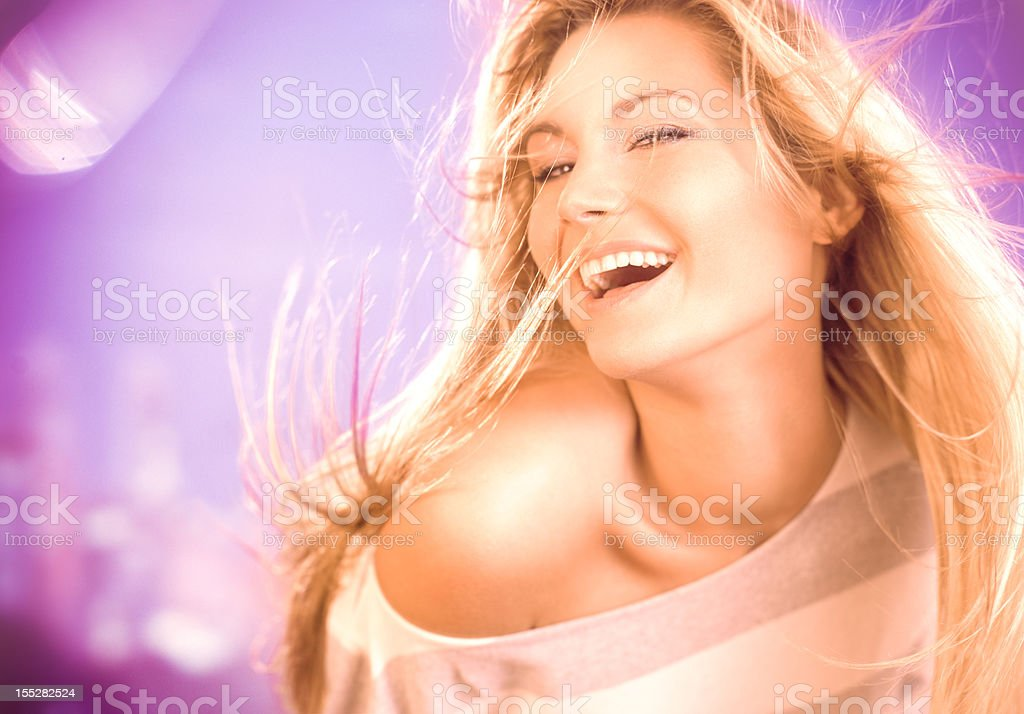 Girl on party royalty-free stock photo