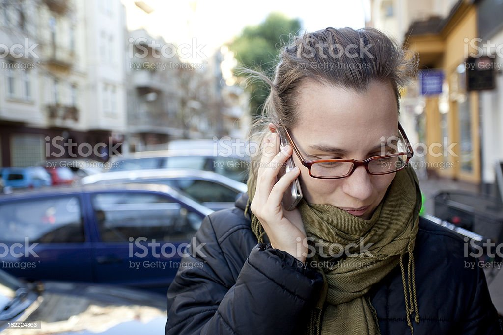 Girl on Phone royalty-free stock photo