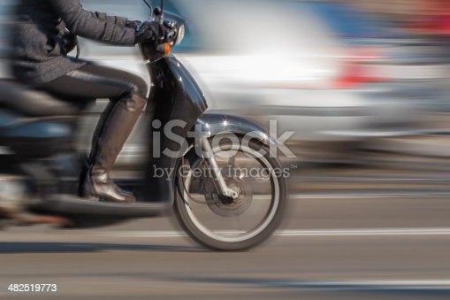 istock Girl on Scooter - Blurred Motion 482519773
