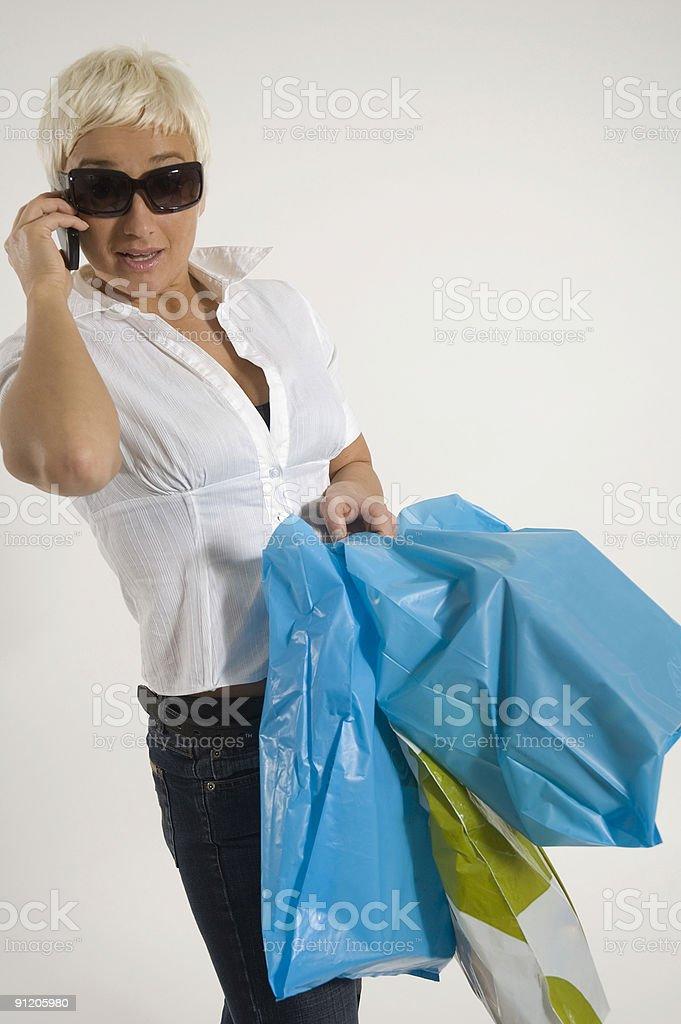 Girl On Shopping Trip stock photo